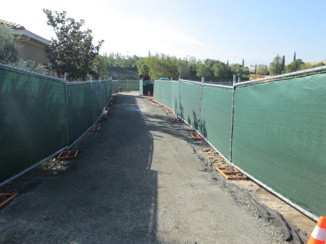 TempFence with Site Screen